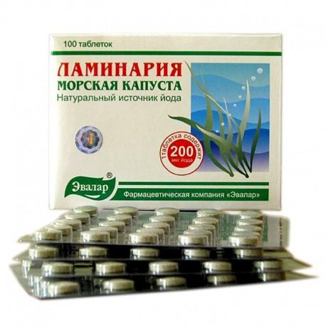 Laminaria japonica mořská řasa - 100 tablet