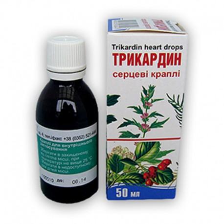 TRIKARDIN serca krople - 50 ml (serdecznik, głóg, kozłek, waleriana)